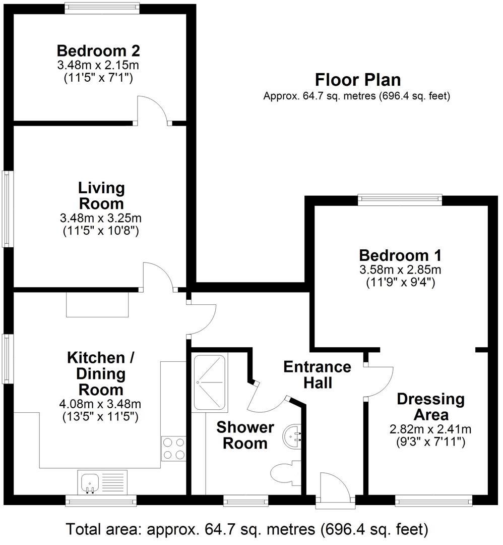 Floor plan Milton Road, Cambridge